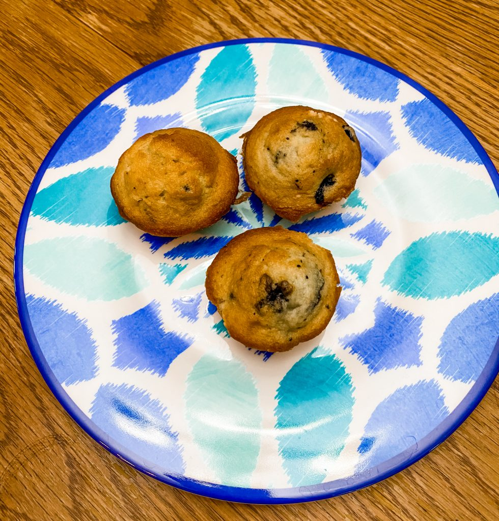Mini blueberry muffins.