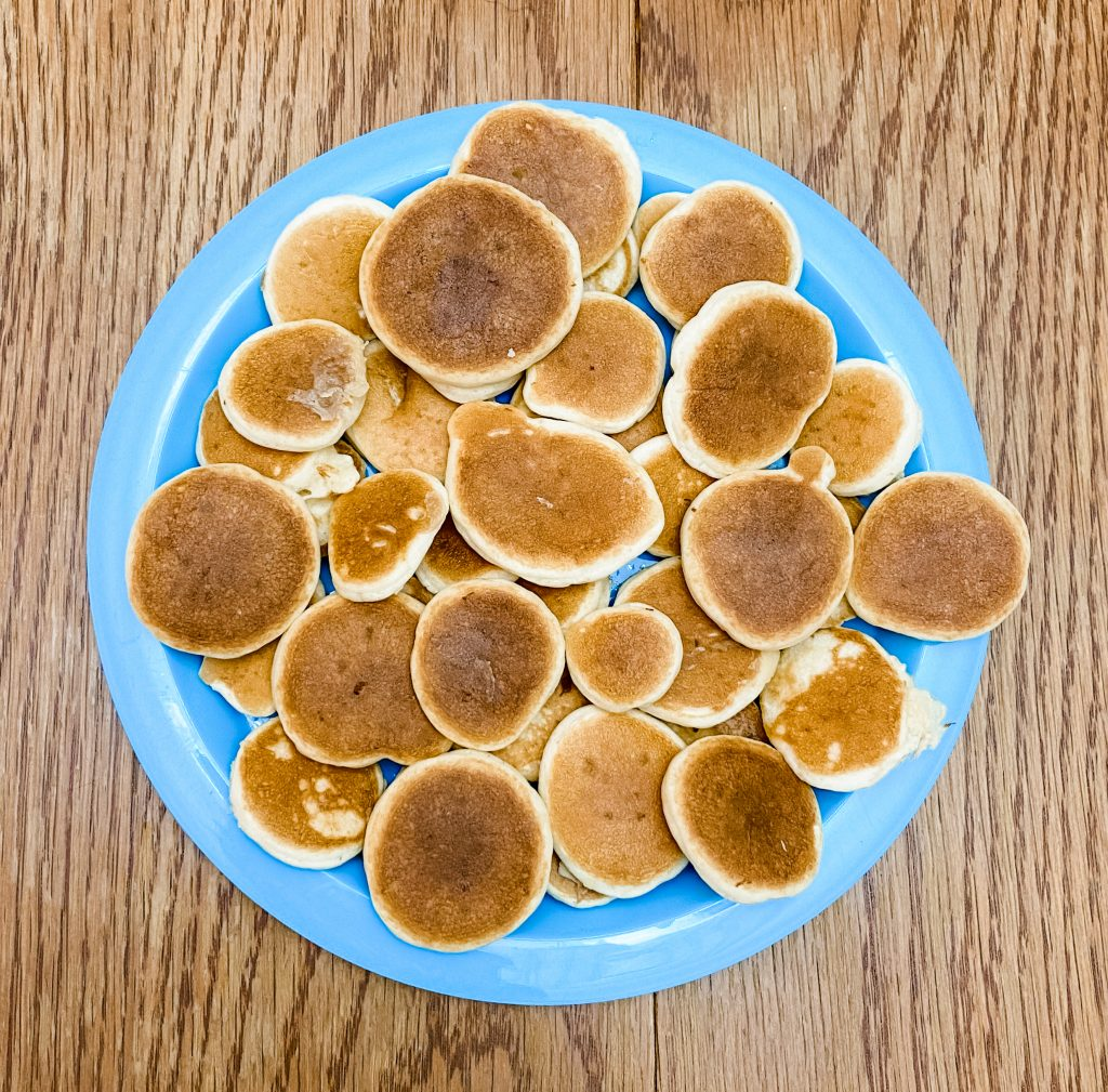 bite size mini pancakes